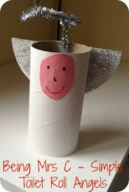 christmas craft toilet roll angels being mrs c