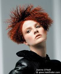 how would you style ear length hair short red hair with crimping mid ear length