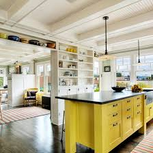yellow kitchen islands colorful kitchen island ideas eatwell101