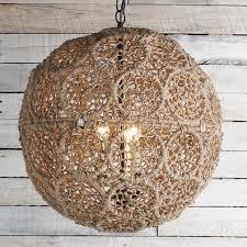 Sphere Pendant Light Macrame Jute Sphere Pendant Small Shades Of Light