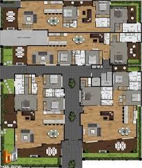 2d colour site plan and floor plans for a development project mt