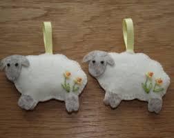 sheep ornament felt sheep sheep decoration easter sheep