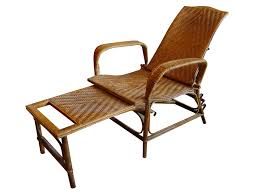 Rattan Chairs Outdoor Vintage Rattan And Bamboo Chaise Lounge Le Barn Antiques