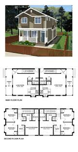 duplex house plans with garage in the middle floor real estate