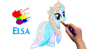 mlp disney princess elsa my little pony coloring book for