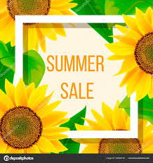sunflowers for sale summer sale banner template with sunflower vector illustration
