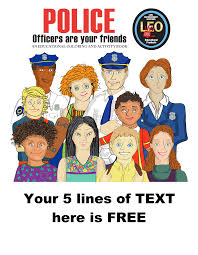 leo police officers are your friends coloring book mcgruff stuff