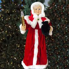 lighted christmas decorations indoor 24 animated mrs claus with lighted candle american sales indoor
