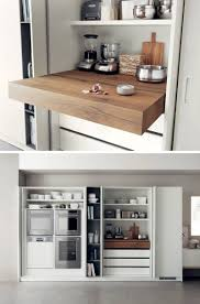 kitchen design idea pull out counters compact kitchen compact