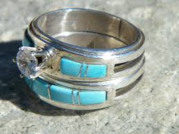 Native American Wedding Rings by Native American Turquoise Wedding Ring Caymancode
