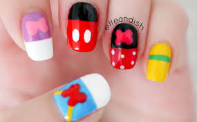 disney inspired nail designs walt disney friends inspired nails