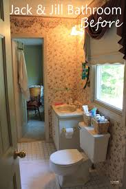 jack jill bath a fresh bathroom makeover for less than 100 decorating budget