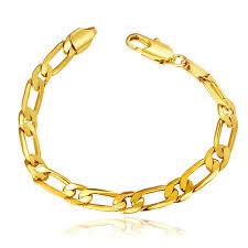 rose gold plated bracelet images Unisex geometry alloy gold plated rose gold plated 20cm figaro chain jpeg