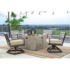 Ashley Furniture Dealer Login Rustic Style Square Fire Pit Table By Signature Design By Ashley