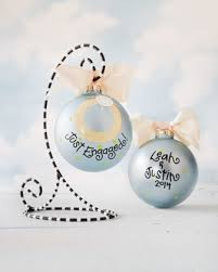 just engaged personalized christmas ornament by coton colors at