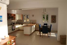 Pictures Of Open Floor Plans Design White Kitchen And Dining With Open Floor Plan Wooden