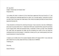 nice letter of termination of lease u2013 letter format writinglease