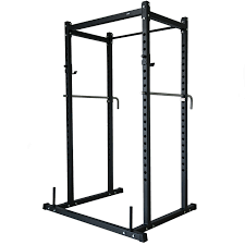 pair of adjustable standard solid steel squat stands barbell free
