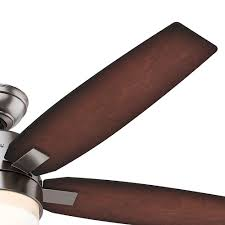 hunter 59039 windemere 54 5 blade ceiling fan in brushed nickel