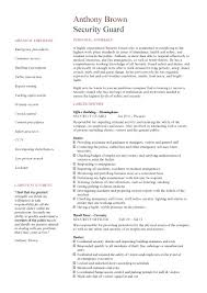 10 photo sample security guard resume no experience resume