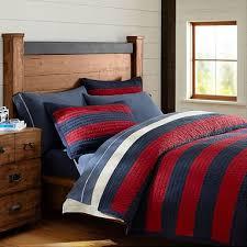 Navy Stripe Comforter Set Twin Stripe Bedding Pbteen