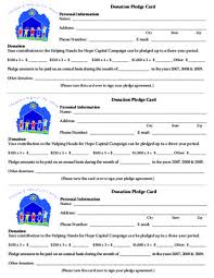 pledge cards template notice church pledge card template u0026 user u0027s guide manuals