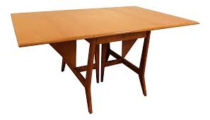Dining Room Tables With Leaf by Heywood Wakefield Mid Century Danish Drop Leaf Dining Table Chairish