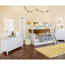 Dakota 4 Piece Twin Over Full Trundle Bunkbed Set