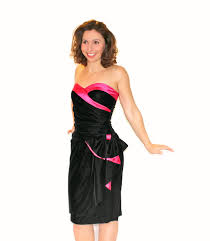 hot new years dresses 80s black hot pink dress party dress new years