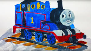 watercolour paint demonstration painting thomas tank engine