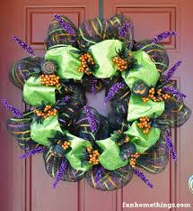 deco mesh halloween wreath fun home things