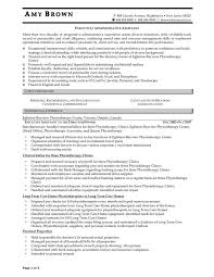 Executive Administrative Assistant Resume Examples by Physical Therapist Assistant Resume Sample Resume Of