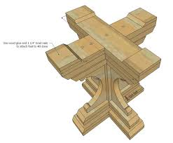 Free Plans Round Wood Picnic Table by Farmhouse Style Round Pedestal Table Her Tool Belt