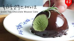eng sub recipe how to make no oven green tea chocolate mousse
