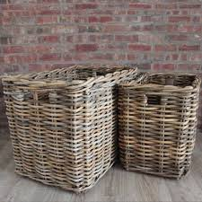 big laundry basket from natural wicker u2014 sierra laundry