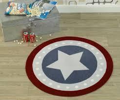kinderzimmer teppich rund velours kinder teppich blau rot rund 100 cm 102305 teppiche