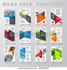 mega pack brochure design template flyer stock vector 531737272