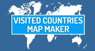 map of the countries visited countries map maker create your travel map