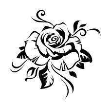 tatouage fleur tribal designs black tattoos