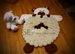 Pom Pom Crib Bedding by Pom Pom Bear Rug Handmade Pom Pom Rug Baby Room Home