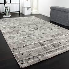 teppich mit sternen edler designer teppich mit steinwand optik in grau schwarz meliert