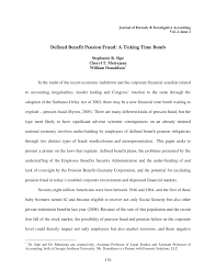 defined benefit pension fraud a ticking time bomb pdf download