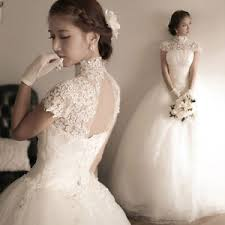 wedding dress korea diamond lace halter straps korean princess word shoulder