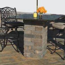 Granite Top Bistro Table Olde Wall Square Patio Pub Bistro Table Kit With 2