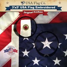 Us Flags Com American Flag 3x5 Foot Embroidered Stars U0026 Sewn Stripes Usa