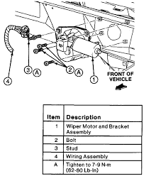 ford ranger wiper blades how do you replace the wiper motor i ve loosened the four