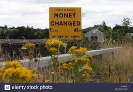 newry bureau de change newry northern 10th august 2017 a sign for exchanging