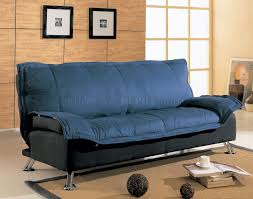 Modern Furniture Depot by Black And Blue Modern Sofa Bed With Extra Cushioned Layer