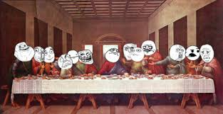 Last Supper Meme - the last supper funny trollface comic com the last supper meme