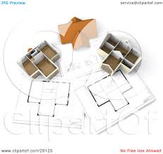 model homes floor plans clipart illustration of a roof resting between two model homes on